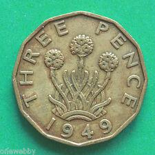 1949 George VI Threepence SNo39665