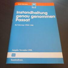 VW Passat B2 Typ 32B / Werkstatthandbuch Instandhaltung Inspektion 1986 > 1988
