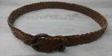 Eddie Bauer 100% Genuine Leather Braided Belt Size Medium