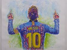 Lionel Messi Barcelona Argentinian SOCCER Player Original Acrylic Painting Art