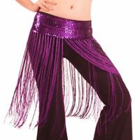 Dancing Costume Oriental Belly Dance Hip Skirt Scarf Wrap sequins Fringe Tassel