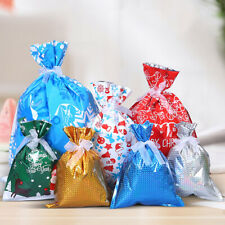Christmas Gift Storage Bag Drawstring Candy Toy Pouches Bags Xmas Decoration