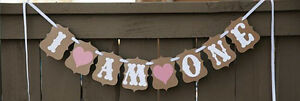 """1ST BIRTHDAY """"I AM ONE"""" DECORATIVE BUNTING/FLAGS/ BANNER FOR BIRTHDAY PARTY"""