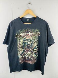 SummerBreeze 2016 Mens Vintage Short Sleeve Concert Slayer T Shirt Size XL Black