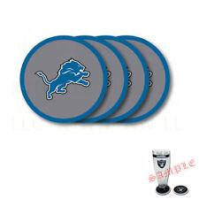 Brand New 4pcs Set NFL Detroit Lions Heavy Duty Rubber Vinyl Coasters