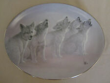 Wolf Pups collector plate Soul Music Lee Cable The Wild Bunch #1 Wolves