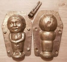 GRANNY GRANDMA OLD LADY TIN CHOCOLATE MOLD MOULD VINTAGE