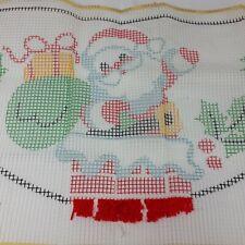 Bucilla Latch Hook Rug Kit With Yarn Santa In Chimney Kitsch Christmas 12070