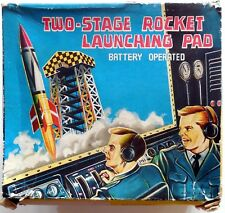 VINTAGE JUPITER TIN TOY TWO STAGE ROCKET LAUNCHING PAD T.N. NOMURA 1950s BOXED