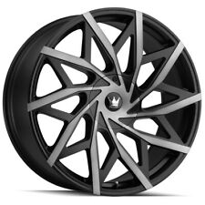 "Mazzi 372 Big Easy 18x8 5x110/5x115 +35mm Black/Machined/Tint Wheel Rim 18"" Inch"