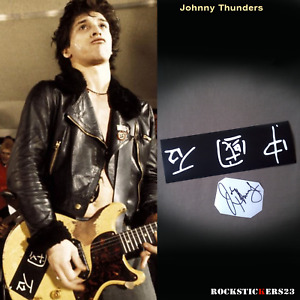 Johnny Thunders guitar stickers Chinese Model vinyl decal Gibson Les Paul Junior