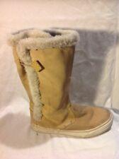 Vans Beige Mid Calf Suede Boots Size 5