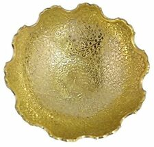 Brass Decorative Dry Fruit Bowl Carving Work  Beautiful Golden Colour Peacock