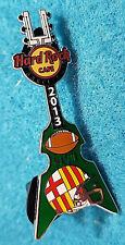 Ba 00003A0F Rcelona Sf 49ers V Ravens Super Bowl #47 Final Xlvii Guitar Hard Rock Cafe Pin