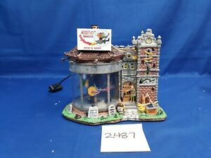 Lemax Spooky Town Wicked Fast Broomsticks #15204 As Is 2487