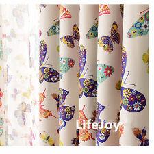 Butterfly Kids 80% Blockout Eyelet Curtain Kids Girls Pink 300cm (W) x 230cm (L)