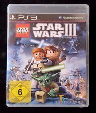 LEGO Star Wars III: The Clone Wars (Sony PlayStation 3, 2011, DVD-Box)