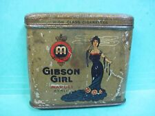 GIBSON GIRL TOBACCO TIN CIGARETTE CASE VERTICAL UPRIGHT POCKET CAN MANOLI BERLIN