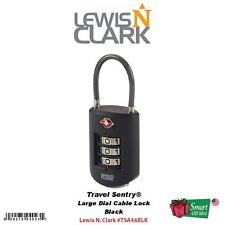 Lewis N. Clark Travel Sentry Lrg Dial Cable Lock, 3-Dial Combo, Black #TSA46BLK