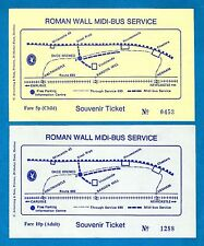 Northumberland Bus Tickets ~ Rochester & Marshall - Roman Wall Service - 1970s