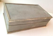 Vintage Cartier Silver tone trinket Box - Art Deco snakeskin pattern