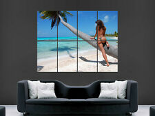 BEACH TROPICAL PARADISE SEXY HOT WOMEN PRINT ART WALL PICTURE POSTER GIANT HUGE