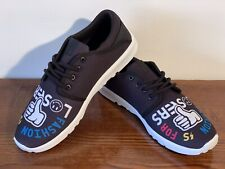 Men Etnies Scout Canvas/Synthetic Lace Up Skate Shoes UK Size 8 EU 42 Blk Multi