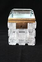 Antique Baccarat gilt bronze mounted cut crystal box c 1900