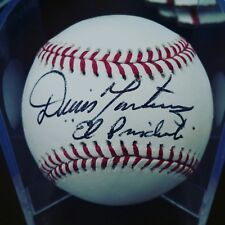 "Dennis Martinez Autographed Baseball MLB ""El presidente"" Montreal Expos GTP"
