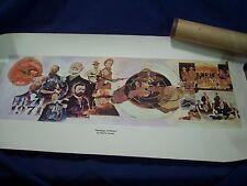 "Vintage 1871-1971 NRA Heritage of Honor Watercolor 14""x28"" Print by Bernie Fuchs"