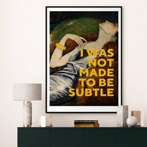 Nodic Canvas Painting I Was Not Made To Be Subtle Wall Art Prints And Posters