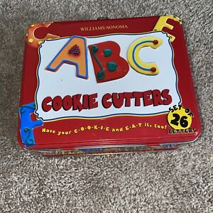 Williams Sonoma  Alphabet Cookie Cutters Complete Lunch Box 26 Letters