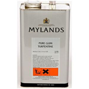 Mylands Pure Gum Turpentine 5 litres / 1 litre