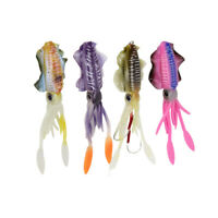 Fisch KöDer Leuchtender Tintenfisch Fishing Doppelt Haken Tackles Lockt PVC P8K4