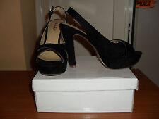 scarpe donna aperte col tacco colore nero n. 39