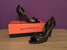 Women's River Island Greek Assas Silver Shoes. UK Size 5. Open Toe, Heels
