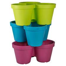 Assorted Plastic Plant Flower Pot Garden Holder Pots Planter Herb Coloured NEW