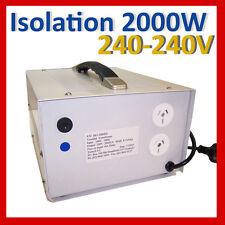 Isolation Transformer 2000w 240v - 240v shipped from Sydney ISO-2000ES Tortech