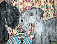 Cesky Terrier Dog Art Giclee Print Signed by Artist Kimberly Helgeson Sams 8x10