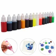 15 Colors 10ml Epoxy UV Resin Dye Colorant Resin Pigment Mix Color DIY Craft New