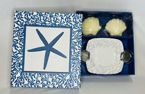 Mud Pie Soap And Soap Dish Gift Box Shells Starfish