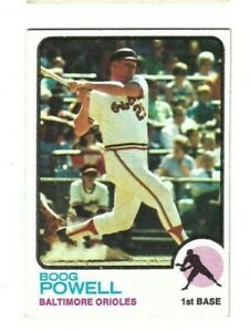 1973 TOPPS BOOG POWELL CARD #325 ORIOLES EX