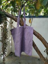 WECare Worldwide purple handloom tote bag to help Sri Lankan street dogs