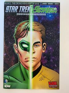 IDW STAR TREK/GREEN LANTERN #1 : VA COMIC CON COVER : NM CONDITION