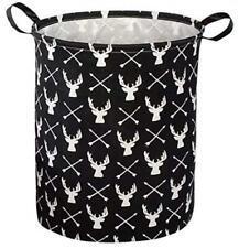 Baby Laundry Bin Storage Toy Organizer Waterproof Basket Deer Arrow Decor New