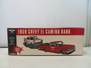 ERTL - WIX FILTERS - 1959 CHEVROLET EL CAMINO PICKUP - 1/25 DIECAST BANK