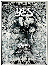 Yes The Fragile Tour Ultimate Fan Poster by Steve Harradine Fascinating