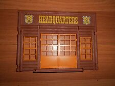 Playmobil Vintage Western Fort Headquarters Wall Entrance w/ Doors Windows