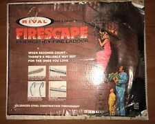 Rival Reliables Firescape 15' Emergency Metal Fire Ladder Two-story Nib Nos Rare