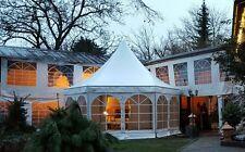 Festzelt Partyzelt Gastronomie Zelt 6eckig / Pagode 23,4m² / Farbe nach Wahl